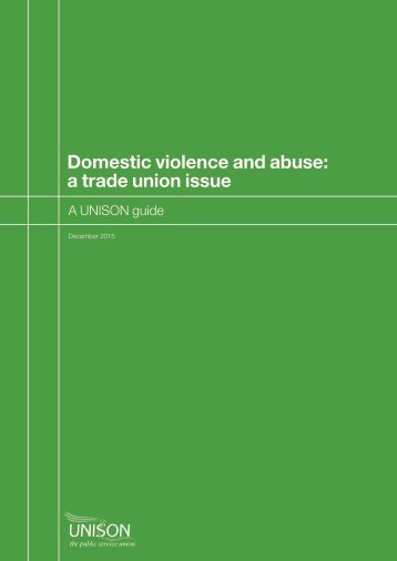 Domestic violence and abuse a trade union issue