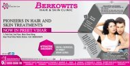 Hair and Skin treatments For Berkowits
