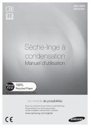 Samsung Sèche-linge à condensation 8kg - SDC3C801 (SDC3C801/XEF ) - Manuel de l'utilisateur(User Manual) 2.05 MB, pdf, Français
