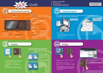 Samsung Copieur A4/A3 SCX-8123NA (SCX-8123NA/SEE ) - Guide rapide 0.01MB, pdf, Anglais