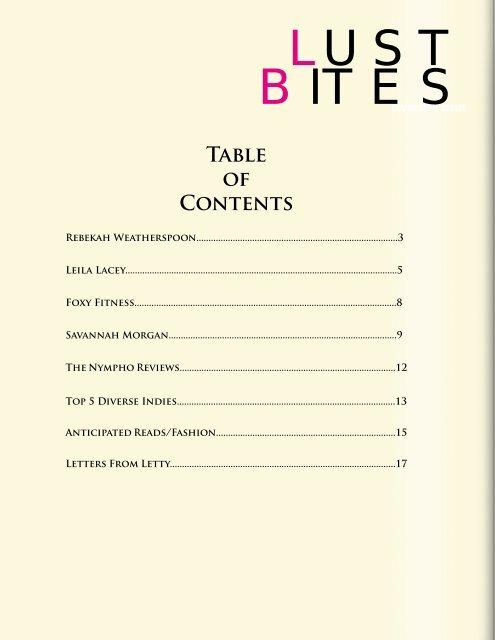 Lust Bites Magazine Diversity Issue Edition 2
