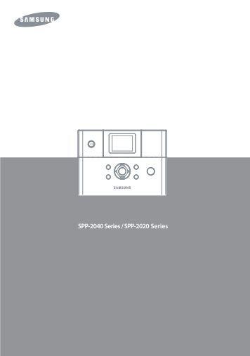 Samsung SPP-2040 (SPP-2040/SEE ) - Manuel de l'utilisateur 11.74 MB, PDF, Français