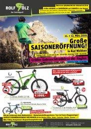 Saisonopening Gölz Fahrräder GmbH 2016