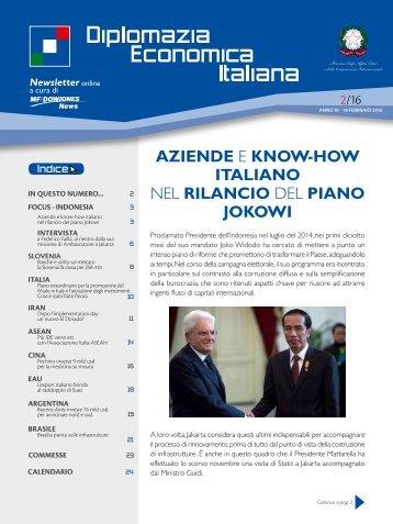 AZIENDE E KNOW-HOW ITALIANO NEL RILANCIO DEL PIANO JOKOWI