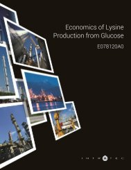 Economics of Lysine Production from Glucose