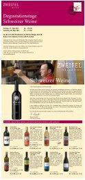 Angebots der Zweifel Selektion Schweizer Weine - Zweifel & Co. AG