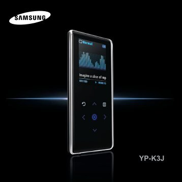 Samsung YP-K3JZB (YP-K3JZB/XEF ) - Manuel de l'utilisateur 0.94 MB, pdf, Anglais