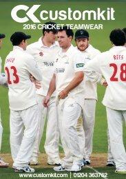 Customkit 2016 Cricket Teamwear Catalogue
