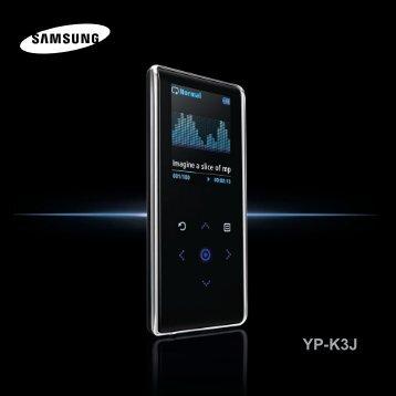 Samsung YP-K3JQB (YP-K3JQB/XEF ) - Manuel de l'utilisateur 0.94 MB, pdf, Anglais