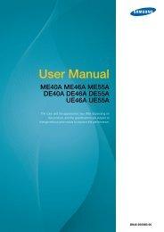 Samsung DE46A (LH46DEAPLBC/EN ) - Manuel de l'utilisateur 10.42 MB, pdf, Anglais