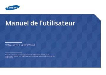 """Samsung Mur d'images 46"""" - 500 cd/m² - UD46E-C (LH46UDECLBB/EN ) - Manuel de l'utilisateur 0.01MB, pdf, Français"""