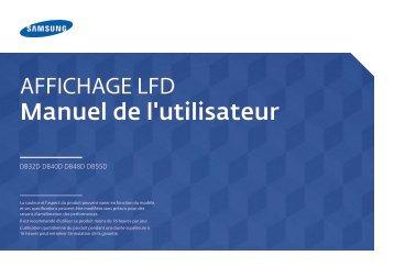 Samsung Moniteur 48'' - 350 cd/m² - Full HD - DB48D (LH48DBDPLGC/EN ) - Manuel de l'utilisateur 3.44 MB, pdf, Français