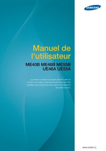 Samsung 55'' Moniteur LED ME55B usage standard (LH55MEBPLGC/EN ) - Manuel de l'utilisateur 15.37 MB, pdf, Français