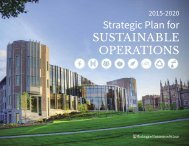 Strategic Plan for SUSTAINABLE OPERATIONS