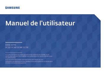 Samsung ED75E (LH75EDEPLGC/EN ) - Manuel de l'utilisateur 1.68 MB, pdf, Français