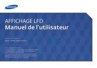 Samsung Moniteur 55'' - 350 cd/m² - Full HD - DB55D (LH55DBDPLGC/EN ) - Manuel de l'utilisateur 3.44 MB, pdf, Français