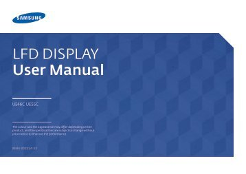 Samsung Mur d'images 46'' - 500cd/m² - FHD UE46C (LH46UECPLGC/EN ) - Manuel de l'utilisateur 5.65 MB, pdf, Anglais
