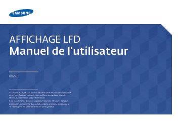 Samsung Moniteur 22'' - 250 cd/m² - Full HD - DB22D (LH22DBDPLGC/EN ) - Manuel de l'utilisateur 3.26 MB, pdf, Français