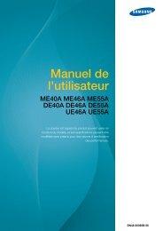 Samsung 46'' Moniteur LED ME46A bords fin (LH46MEPLGC/EN ) - Manuel de l'utilisateur 6.16 MB, pdf, Français