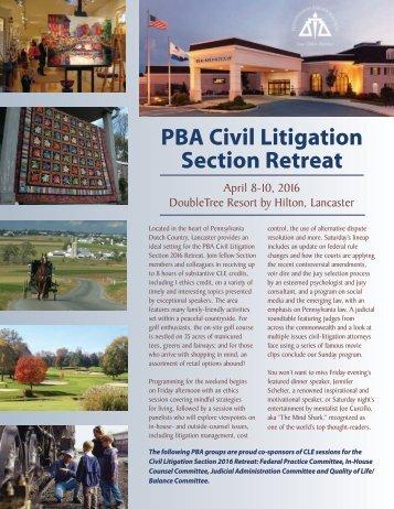 PBA Civil Litigation Section Retreat