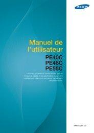 Samsung Moniteur premium 40'' PE40C usage intensif (LH40PECPLBC/EN ) - Manuel de l'utilisateur 14.82 MB, pdf, Français