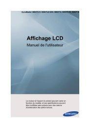 Samsung 46'' Moniteur LCD 460UTn-B mur d'image PC (LH46CBSLBB/EN ) - Manuel de l'utilisateur 5.77 MB, pdf, Français
