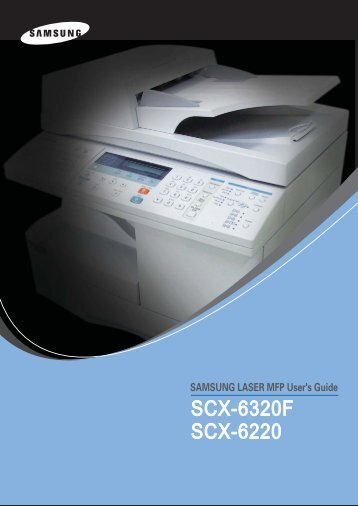 Samsung SCX-6220 (SCX-6220/XEF ) - Manuel de l'utilisateur 9 MB, PDF, Anglais