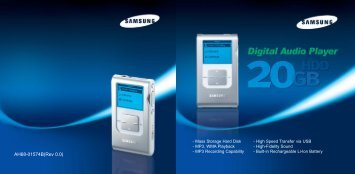 Samsung YH-920GS (YH920GS1/ELS ) - Manuel de l'utilisateur 2.58 MB, pdf, Anglais