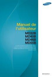 Samsung 40'' Moniteur LED MD40B usage standard (LH40MDBPLGC/EN ) - Manuel de l'utilisateur 12.63 MB, pdf, Français