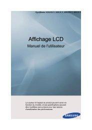 Samsung Moniteur mur d'images 40'' 400UX-3 (LH40GWPLBC/EN ) - Manuel de l'utilisateur 6.16 MB, pdf, Français