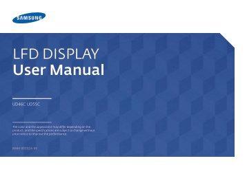 Samsung Mur d'images 46'' UD46C usage intensif (LH46UDCPLBB/EN ) - Manuel de l'utilisateur 7.57 MB, pdf, Anglais