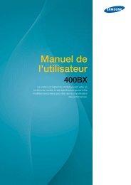 Samsung 400BX (LH40ARPLBC/EN ) - Manuel de l'utilisateur 9.15 MB, pdf, Français