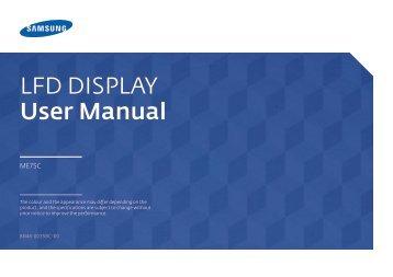 Samsung Moniteur 75'' ME75C Edge LED wifi et widi (LH75MECPLGC/EN ) - Manuel de l'utilisateur 5.21 MB, pdf, Anglais