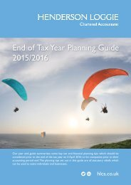 End of Tax Year Planning Guide 2015/2016