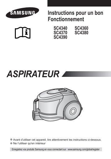Samsung SC4370 (VCC4370S3W/XEF ) - Manuel de l'utilisateur 1.81 MB, pdf, Français