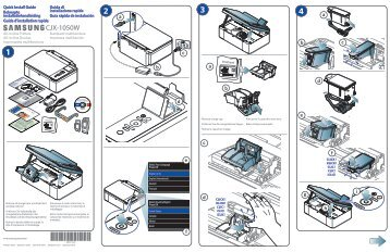 Samsung Imprimante jet d'encre, 3-en-1, 7ppm - CJX-1050W (CJX-1050W/SEE ) - Installation Guide 3.52 MB, pdf, Anglais