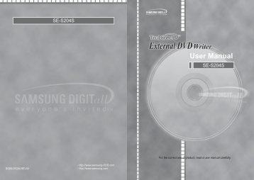 Samsung SE-S204S (SE-S204S/EUWN ) - Manuel de l'utilisateur 4.33 MB, pdf, Anglais