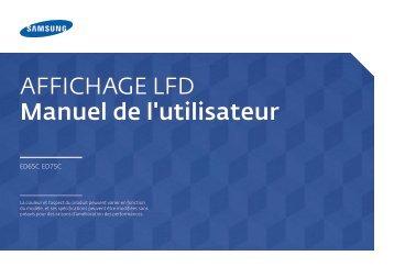 Samsung Moniteur 65'' ED65C (LH65EDCPLBC/EN ) - Manuel de l'utilisateur 4.02 MB, pdf, Français
