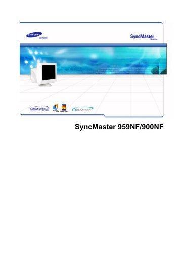 Samsung 900NF (PG19NSBU/EDC ) - Manuel de l'utilisateur 4.09 MB, pdf, Français