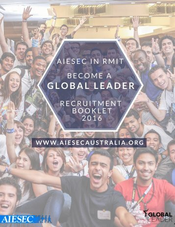 AIESEC RMIT 2016 Recruitment Booklet Round 2