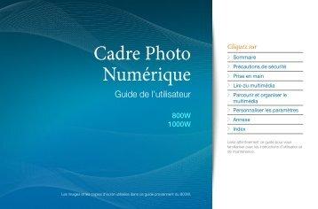 Samsung 800W (LP08WSLSB/EN ) - Manuel de l'utilisateur 9.74 MB, pdf, Français