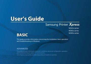 Samsung SL-M2835DW Imprimante Laser Monochrome (28 ppm) (SL-M2835DW/SEE ) - Manuel de l'utilisateur 33.06 MB, pdf, Anglais