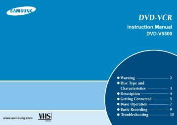 Samsung DVD-V5500 (DVD-V5500/XEF ) - Guide rapide 0.91 MB, pdf, Anglais
