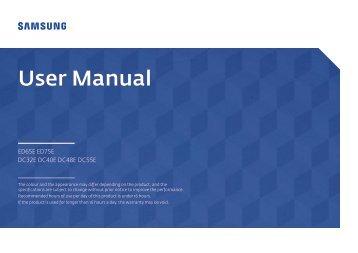 Samsung ED75E (LH75EDEPLGC/EN ) - Manuel de l'utilisateur 1.72 MB, pdf, Anglais
