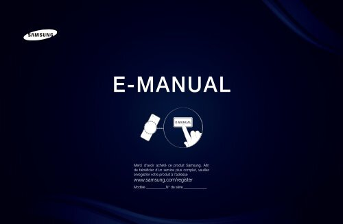 """Samsung 40"""", UE40D6300WXZF, série 6, SMART TV, 3D, FULL HD, LED TV (UE40D6300SSXZF ) - Manuel de l'utilisateur 13.53 MB, pdf, Français"""