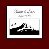 Anna and Jesse's Wedding Book
