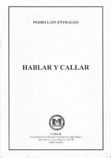 HABLAR Y CALLAR - umer
