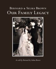 Bernard and Selma Brown Our Family Legacy for Issuu selected pages