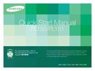 Samsung PL150 (EC-PL150ZBPLE1 ) - Guide rapide 8.4 MB, pdf, Anglais, ARABE, CHINOIS, Français, Indonésien, PERSAN, THAI, TURQUE