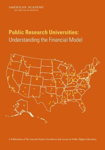 Public Research Universities Understanding the Financial Model